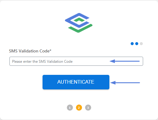 Add in authentication code