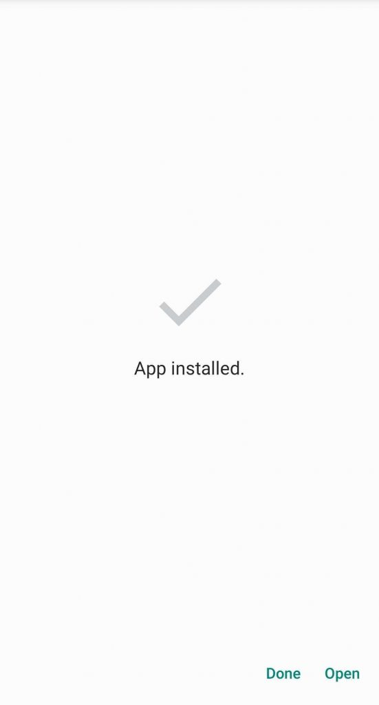 your apk file is successfully installed