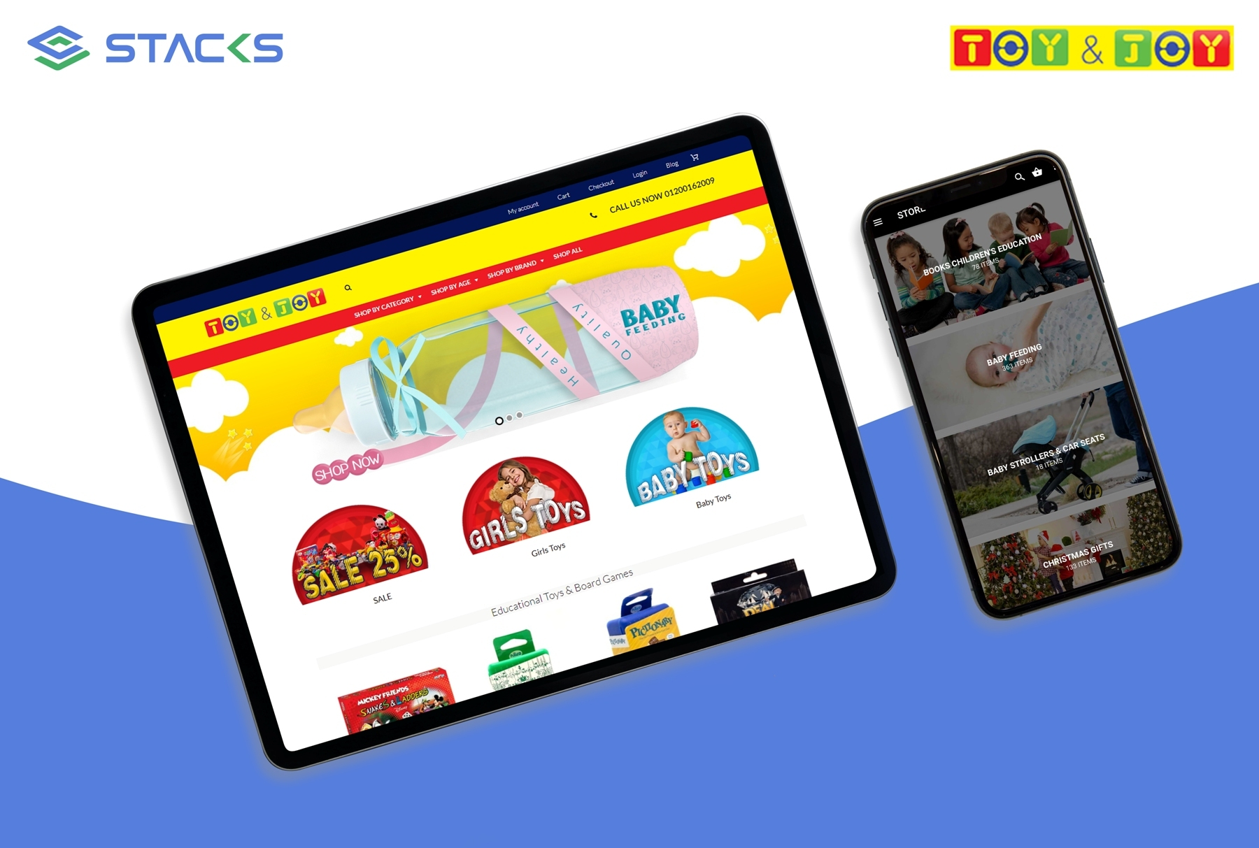 Toy & Joy website and mobile app